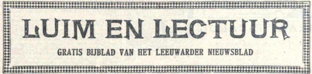 'Luim en lectuur'-pagina's van het Leeuwarder Nieuwsblad, hier van 24 december 1926