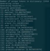 tf-idf word list